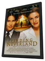 Finding Neverland - 11 x 17 Movie Poster - Style B - in Deluxe Wood Frame
