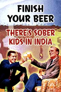 Finish Your Beer - Party/College Poster - 24 x 36 - Style A