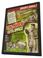 Fire Maidens From Outer Space - 11 x 17 Movie Poster - Style B - in Deluxe Wood Frame