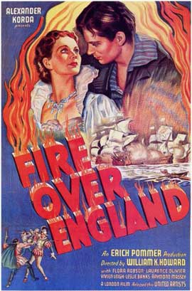 Fire Over England - 11 x 17 Movie Poster - Style A