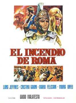 Fire Over Rome - 11 x 17 Movie Poster - Spanish Style A