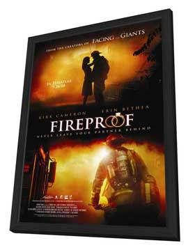 Fireproof - 11 x 17 Movie Poster - Style C - in Deluxe Wood Frame