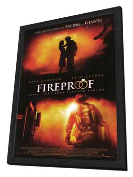 Fireproof - 27 x 40 Movie Poster - Style B - in Deluxe Wood Frame