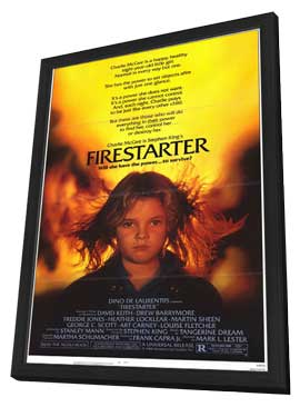 Firestarter - 11 x 17 Movie Poster - Style A - in Deluxe Wood Frame