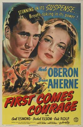 First Comes Courage - 11 x 17 Movie Poster - Style A