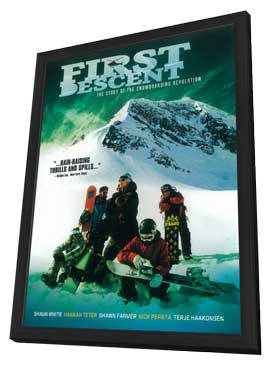 First Descent - 27 x 40 Movie Poster - Style A - in Deluxe Wood Frame