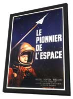 First Man into Space - 11 x 17 Movie Poster - French Style A - in Deluxe Wood Frame