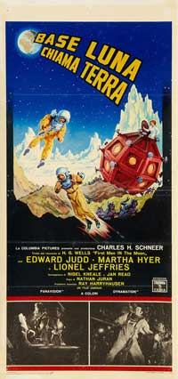 First Men in the Moon - 11 x 17 Movie Poster - Italian Style A