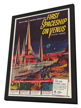 First Spaceship on Venus - 11 x 17 Movie Poster - Style A - in Deluxe Wood Frame
