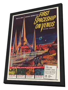 First Spaceship on Venus - 27 x 40 Movie Poster - Style A - in Deluxe Wood Frame