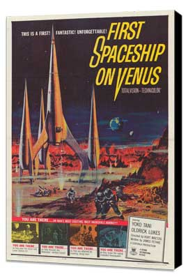 First Spaceship on Venus - 11 x 17 Movie Poster - Style A - Museum Wrapped Canvas