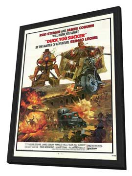 A Fistful of Dynamite - 11 x 17 Poster - Foreign - Style A - in Deluxe Wood Frame