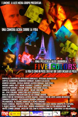 Five Colors - 27 x 40 Movie Poster - Spanish Style A