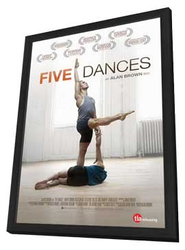 Five Dances - 11 x 17 Movie Poster - Style A - in Deluxe Wood Frame