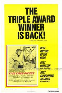 Five Easy Pieces - 11 x 17 Movie Poster - Style A