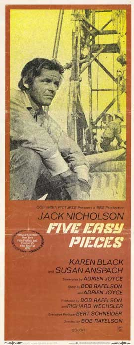Five Easy Pieces - 14 x 36 Movie Poster - Insert Style A