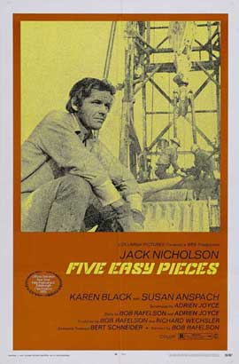 Five Easy Pieces - 11 x 17 Movie Poster - Style F