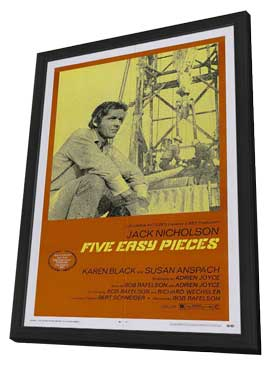 Five Easy Pieces - 27 x 40 Movie Poster - Style A - in Deluxe Wood Frame