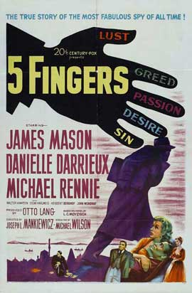 Five Fingers - 11 x 17 Movie Poster - Style A