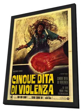 Five Fingers of Death - 27 x 40 Movie Poster - Italian Style A - in Deluxe Wood Frame