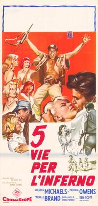 Five Gates to Hell - 39 x 55 Movie Poster - Italian Style A