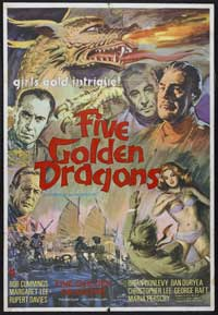 Five Golden Dragons - 11 x 17 Movie Poster - UK Style A