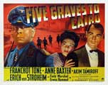 Five Graves to Cairo - 22 x 28 Movie Poster - Half Sheet Style A