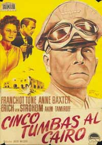 Five Graves to Cairo - 11 x 17 Movie Poster - Spanish Style A