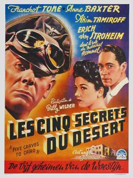 Five Graves to Cairo - 11 x 17 Movie Poster - Belgian Style A