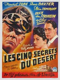 Five Graves to Cairo - 27 x 40 Movie Poster - Belgian Style A