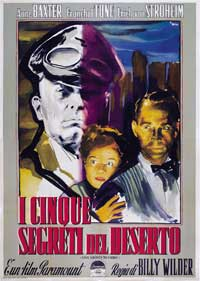 Five Graves to Cairo - 11 x 17 Movie Poster - Italian Style A