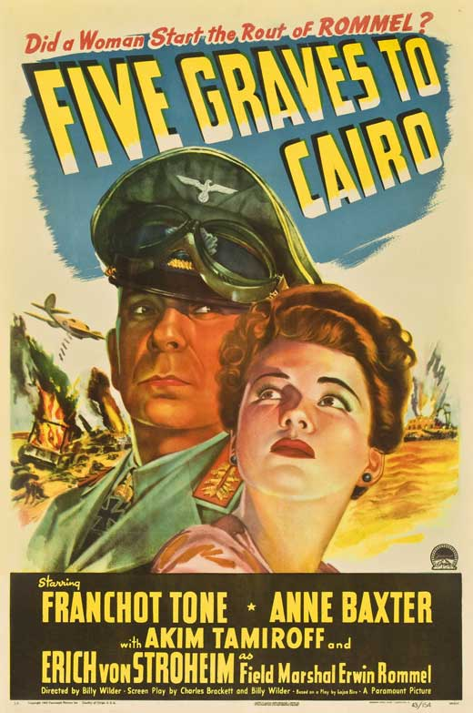 Five Graves To Cairo Movie Posters From Movie Poster Shop
