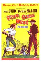 Five Guns West - 11 x 17 Movie Poster - Style A