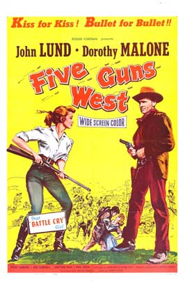 Five Guns West - 27 x 40 Movie Poster - Style A