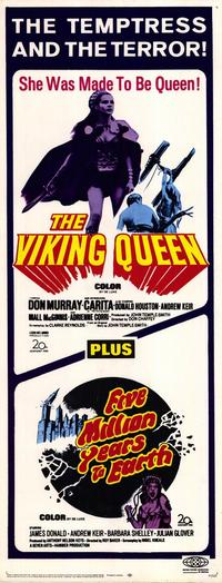 Five,Million Years to Earth/The Viking Queen - 14 x 36 Movie Poster - Insert Style A