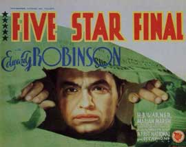 Five Star Final - 11 x 14 Movie Poster - Style A
