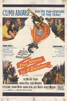 Five Weeks in a Balloon - 27 x 40 Movie Poster - Style A