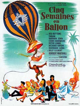 Five Weeks in a Balloon - 11 x 17 Movie Poster - French Style A