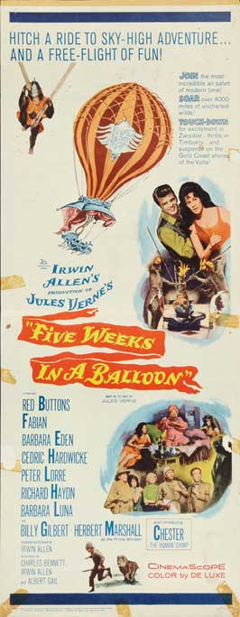 Five Weeks in a Balloon - 14 x 36 Movie Poster - Insert Style A