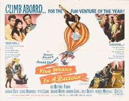 Five Weeks in a Balloon - 22 x 28 Movie Poster - Style A