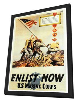 Flags of Our Fathers - 27 x 40 Movie Poster - Style A - in Deluxe Wood Frame