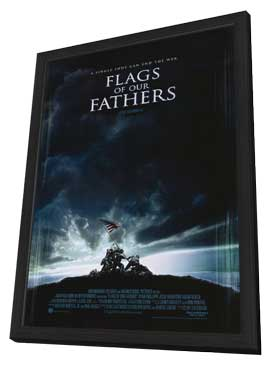 Flags of Our Fathers - 11 x 17 Movie Poster - Style A - in Deluxe Wood Frame