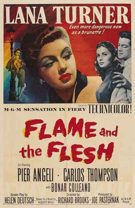 Flame and The Flesh - 11 x 17 Movie Poster - Style B