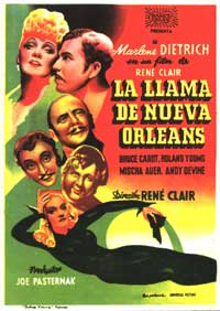 The Flame of New Orleans - 11 x 17 Movie Poster - Spanish Style A
