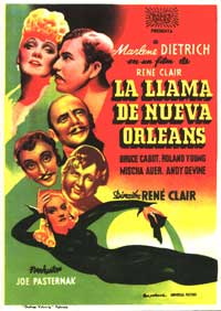 The Flame of New Orleans - 11 x 17 Movie Poster - Italian Style A