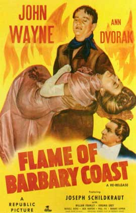 Flame of the Barbary Coast - 11 x 17 Movie Poster - Style B