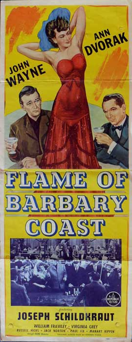 Flame of the Barbary Coast - 14 x 36 Movie Poster - Insert Style A