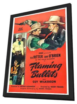 Flaming Bullets - 11 x 17 Movie Poster - Style A - in Deluxe Wood Frame