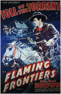 Flaming Frontiers - 11 x 17 Movie Poster - Style B