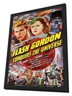 Flash Gordon Conquers the Universe - 11 x 17 Movie Poster - Style A - in Deluxe Wood Frame